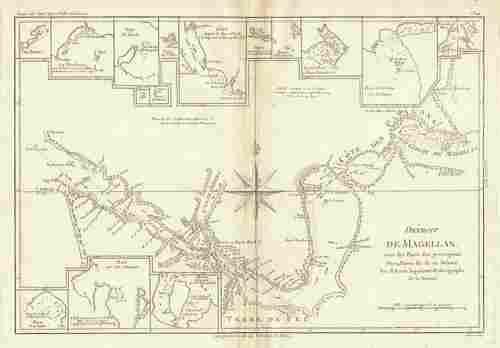 Détroit de Magellan. Strait of Magellan. Chile. BONNE
