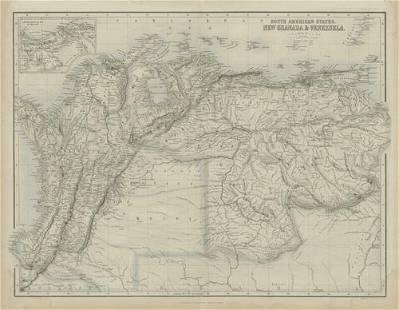 South America. New Granada & Venezuela. Colombia