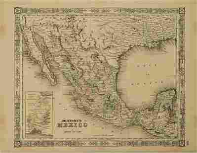 1864 Johnson Map of Mexico -- Johnson's Mexico
