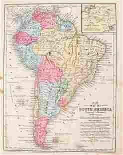 1852 Mitchell Map of South America -- South America