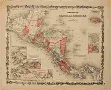 1861 Johnson Map of Central America -- Johnson's