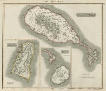 St Lucia, St Christophers & Nevis. St Kitts. West