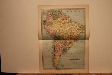 1873 Map of South America