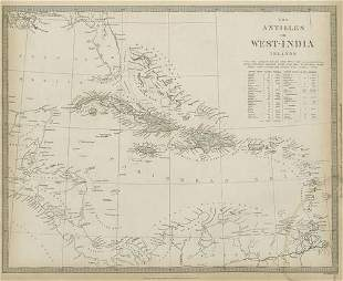 WEST INDIES Caribbean Antilles Cuba Puerto Rico Jamaica