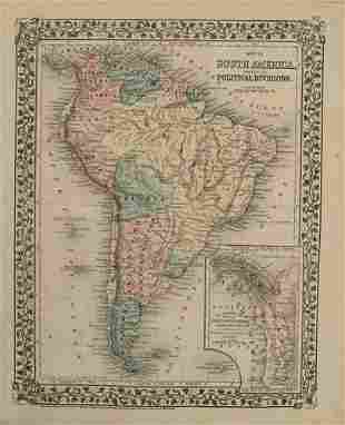 1876 Mitchell Map of South America [verso] Northern/Mid