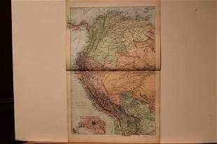 1882 Map of Ecuador and Peru