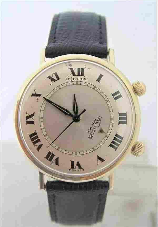 Vintage 10k GF JAEGER-LeCOULTRE Winding MEMOVOX Alarm
