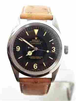Vintage S/Steel ROLEX EXPLORER Automatic Watch c.1962