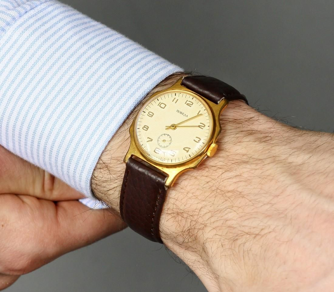 Pobeda Vintage Men Wrist Watch / Soviet Men's Watch