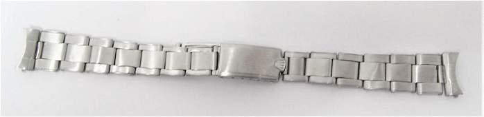 Original Riveted ROLEX Swiss 17 mm 1960s Oyster S/Steel
