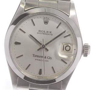Rolex & Tiffany - oyster perpetual - Automatic