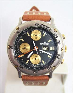 Vintage S/Steel PRYNGEPS Chronograph Automatic Day Date