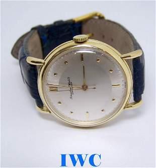 Vintage 18k Yellow Gold IWC SHAFFHAUSEN Winding Watch