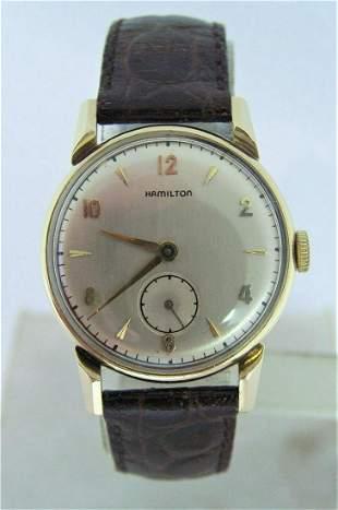 Vintage 14K HAMILTON KIRK Men's Winding Watch 1940s CAl