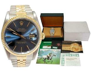 36mm ROLEX DATEJUST TWO TONE GOLD / STEEL AUTOMATIC