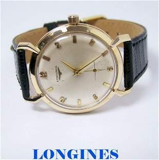 Vintage 14k LONGINES Mens Winding Watch Cal 370 1960s*