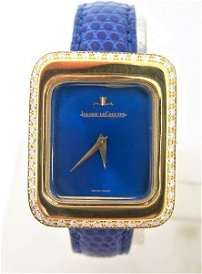 Solid 18k JAEGER-LECOULTRE Ladies Winding Watch with 1