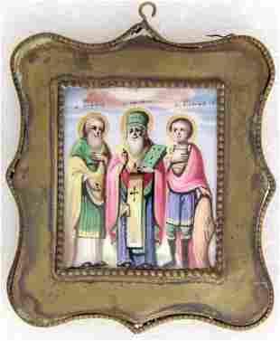 Finift. Three Saints