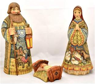 Christmas. Russian nativity scene