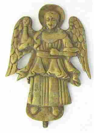 RUSSIAN BRONZE ICON of ANGEL 17th CENTURY RARE ANTIQUE