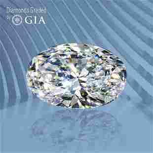1.50 ct, Color D/VS2, Oval cut GIA Graded Diamond