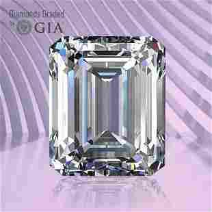 0.79 ct, Color F/VVS1, Emerald cut GIA Graded Diamond