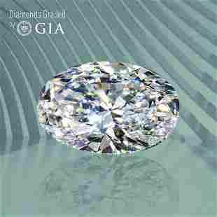 1.01 ct, Color E/VS1, Oval cut GIA Graded Diamond