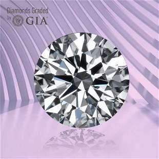 1.01 ct, Color F/VVS2, Round cut GIA Graded Diamond