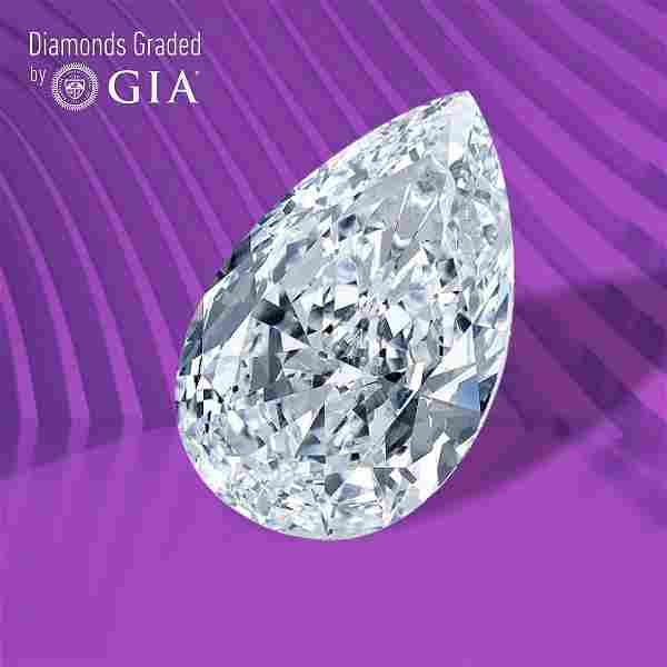 3.01 ct, Color E/VVS1, Pear cut GIA Graded Diamond