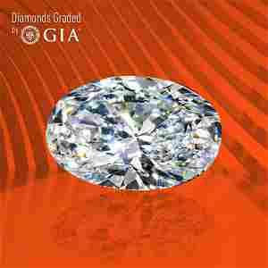 3.03 ct, Color D/VVS1, Oval cut GIA Graded Diamond