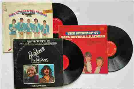 A SET OF 3 PAUL REVERE AND THE RAIDERS ALBUMS