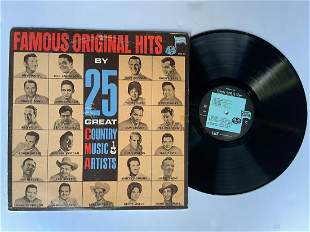 Famous Original Hits By 25 Great Country Music Artists