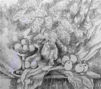 Pencil painting Still life Peter Tovpev