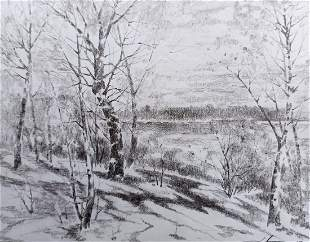 Pencil painting Beauty of nature Peter Tovpev