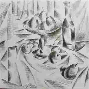 Abstract pencil painting Still life Peter Tovpev
