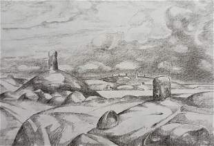 Pencil painting Land of the Scythians Peter Tovpev