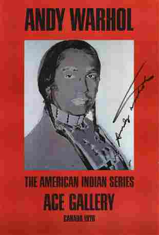 Andy Warhol: American Indian (Red)