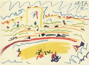 Pablo Picasso: Bullring IV