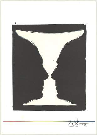 Jasper Johns: Cup, Two Picasso Profiles
