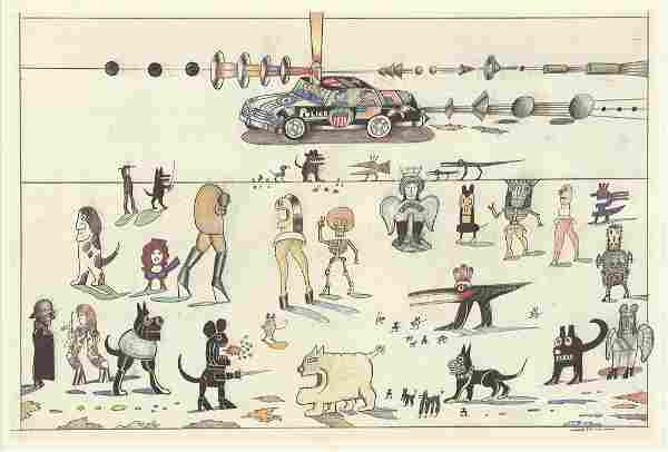 Saul Steinberg: DLM no. 224 Pages 18,19