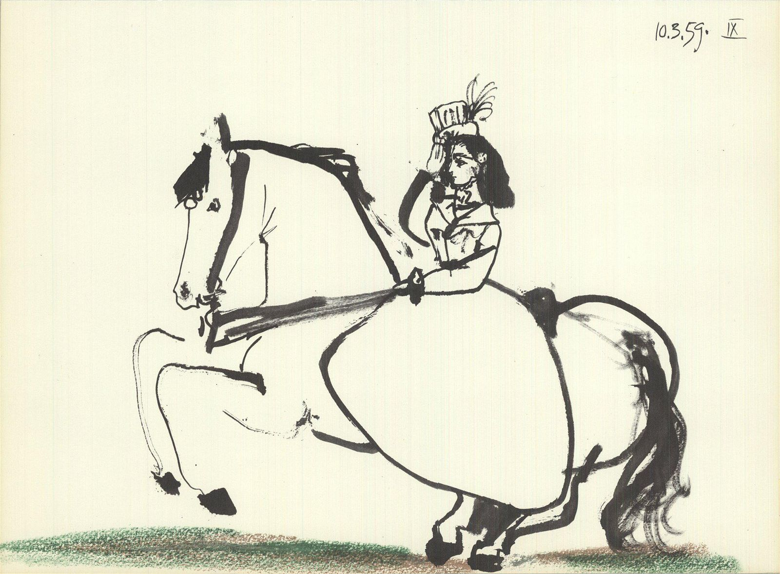 Pablo Picasso: Equestrian on Horse