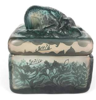 Emile Galle: Frog Container (After)