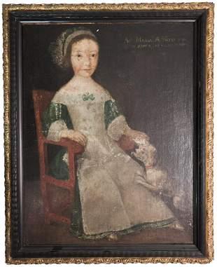 Flemish School: Girl in Chair
