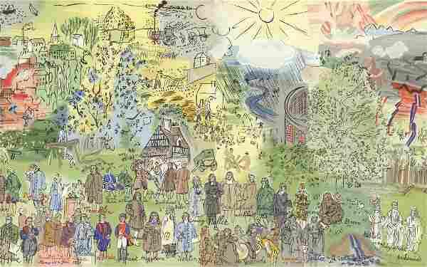 Raoul Dufy: Maquette: Histoire de l'Electricite