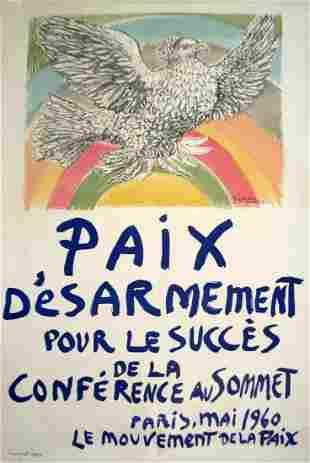 Pablo Picasso: Paix Disarmement-Peace