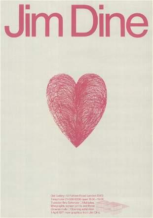 Jim Dine: Pink Heart