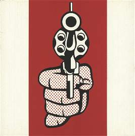 Roy Lichtenstein: Pistol, from Banner, Multiples