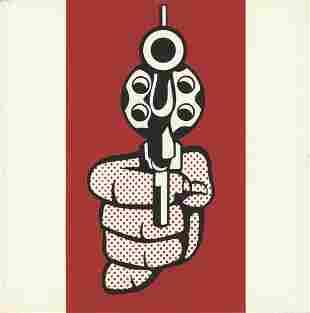 Roy Lichtenstein: Pistol, from Banner, Multiples