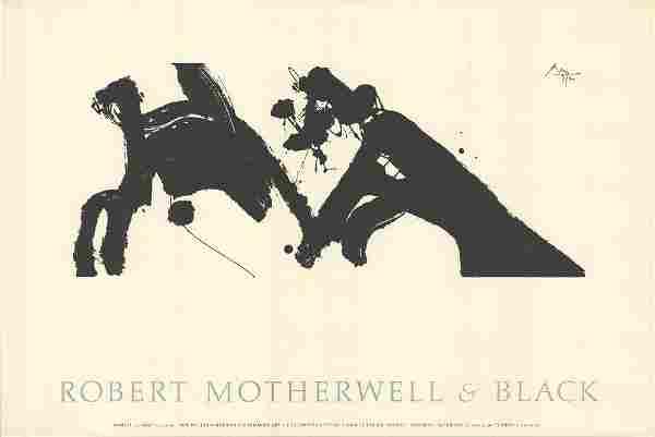 Robert Motherwell: Robert Motherwell & Black