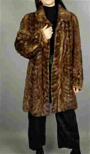 Brown Mink Fur Jacket